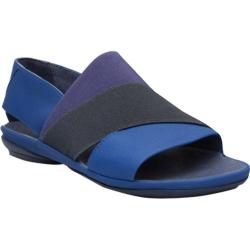 Women's Camper Right Nina Stretch Sandal Bright Blue Leather