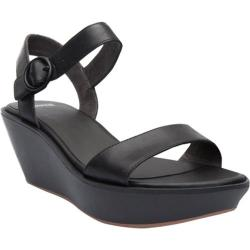 Women's Camper Damas Wedge Sandal Black Leather