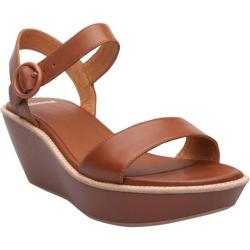 Women's Camper Damas Wedge Sandal Medium Brown Leather