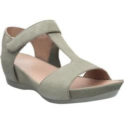 Women's Camper Micro T Strap Sandal Light/Pastel Green Leather