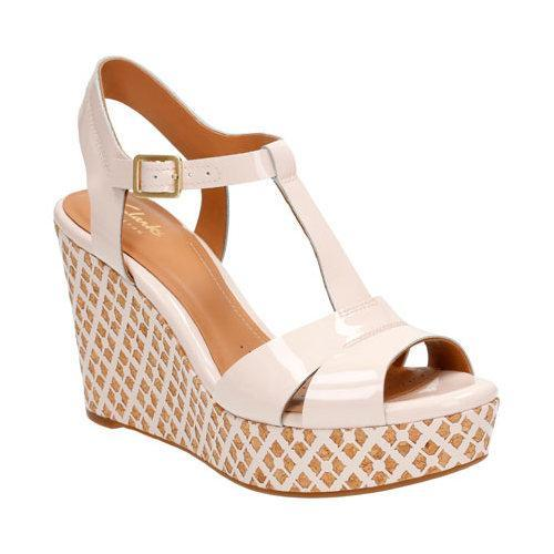 d133758653b Shop Women s Clarks Amelia Roma Wedge Sandal Nude Pink Patent Leather -  Free Shipping On Orders Over  45 - Overstock - 11784651