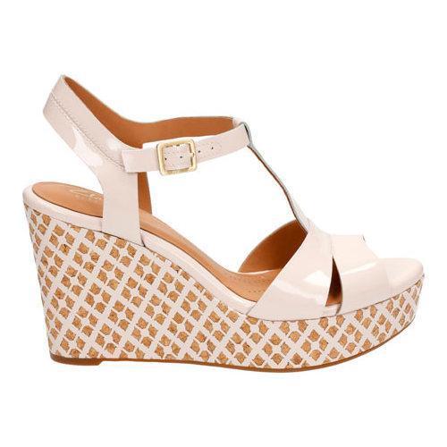 199888bb1e1 ... Thumbnail Women  x27 s Clarks Amelia Roma Wedge Sandal Nude Pink Patent  Leather ...