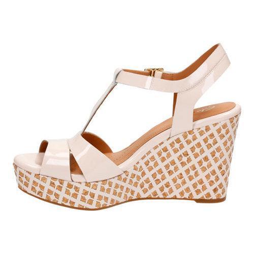 4daeae26186 ... Thumbnail Women  x27 s Clarks Amelia Roma Wedge Sandal Nude Pink Patent  Leather