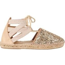 Women's Charles David Sunshine Espadrille Gold Glitter Fabric Canvas