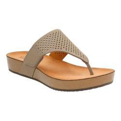 Women's Clarks Aeron Logan Thong Sandal Sage Leather