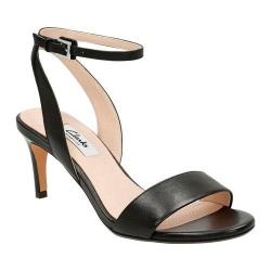 Women's Clarks Amali Jewel Ankle Strap Sandal Black Leather