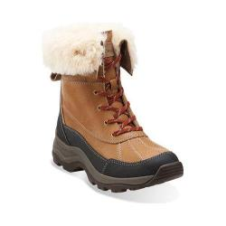 Women's Clarks Arctic Venture Waterproof Boot Camel Leather Waterproof