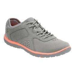Women's Clarks Aria Lace Up Shoe Grey Leather