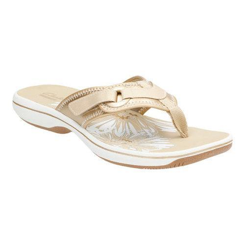 7270dff244534f Shop Women s Clarks Breeze Mila Gold Metallic Synthetic - Free Shipping  Today - Overstock.com - 11784727