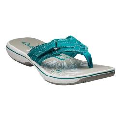 Women's Clarks Breeze Sea Sandal Teal Polyurethane