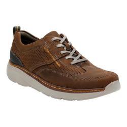 Men's Clarks Charton Mix Sneaker Dark Brown Leather