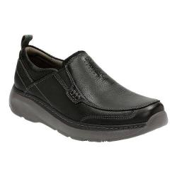 Men's Clarks Charton Step Slip On Black Leather