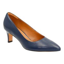 Women's Clarks Crewso Wick Pump Navy Full Grain Leather