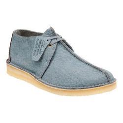 Men's Clarks Desert Trek Boot Blue/Grey Leather