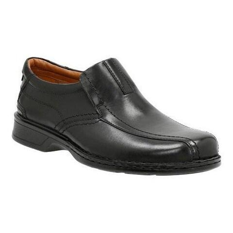 Men's Clarks Escalade Step Slip-On Black Full Grain Leather/Leather
