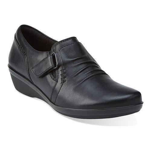 Women's Clarks Everlay Coda Slip On Black Leather