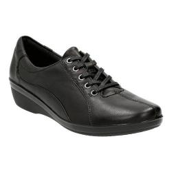 Women's Clarks Everlay Elma Lace Up Shoe Black Leather