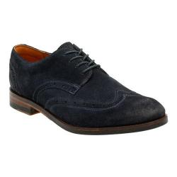 Men's Clarks Exton Brogue Blue Suede