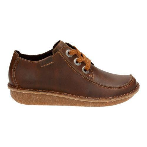 Women's Clarks Funny Dream Lace Up Shoe Brown Nubuck - Thumbnail 1