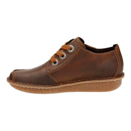 Women's Clarks Funny Dream Lace Up Shoe Brown Nubuck - Thumbnail 2