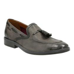 Men's Clarks Garren Style Tassel Loafer Grey Full Grain Leather