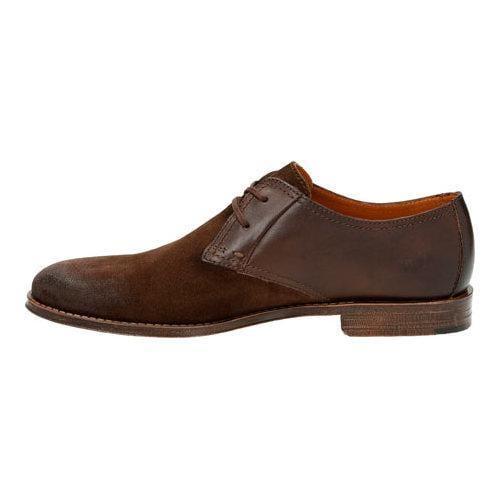 Men's Clarks Hawkley Walk Two Tone Shoe Dark Brown Combi - Thumbnail 2