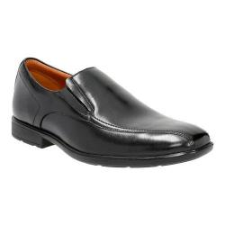 Men's Clarks Gosworth Step Slip On Black Leather
