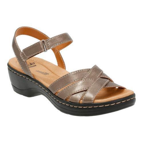 a78fdeca728 Thumbnail Women  x27 s Clarks Hayla Pier Quarter Strap Sandal Pewter Leather  ...
