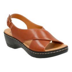 Women's Clarks Hayla Heaven Slingback Tan Leather