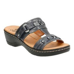 Women's Clarks Hayla Young T Strap Sandal Navy Leather