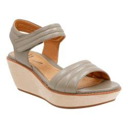 Women's Clarks Hazelle Alba Wedge Sandal Sage Leather