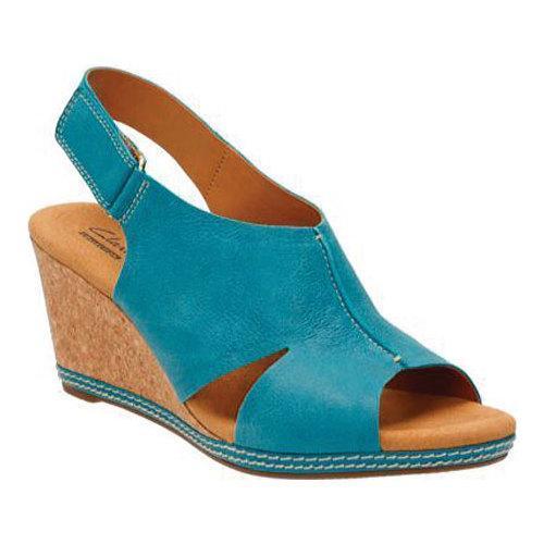 Womens Sandals Clarks Helio Float 4 Blue Suede
