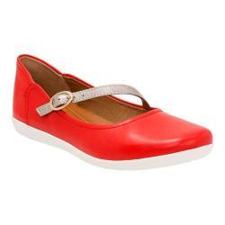 Women's Clarks Helina Amo Mary Jane Red Leather