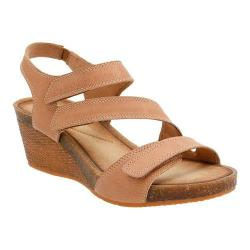 Women's Clarks Hevely Ordo Strappy Sandal Beige Leather
