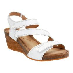 Women's Clarks Hevely Ordo Strappy Sandal White Leather
