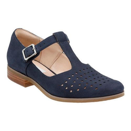 940cfb8f6bca Shop Women s Clarks Hotel Vibe T Strap Shoe Navy Nubuck - Free Shipping  Today - Overstock - 11785107