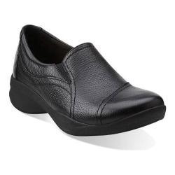 Women's Clarks In Motion Kick Black Leather