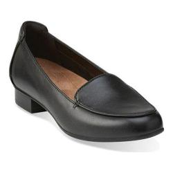 Women's Clarks Keesha Luca Loafer Black Leather