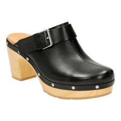 Women's Clarks Ledella York Clog Black Full Grain Leather