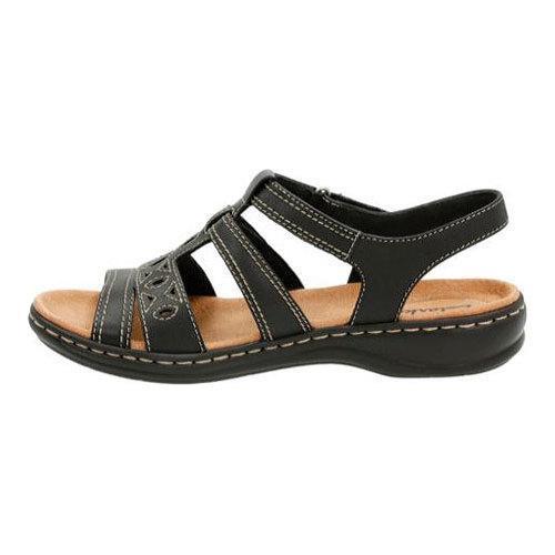 Women S Clarks Leisa Apple Sandal Black Leather Free
