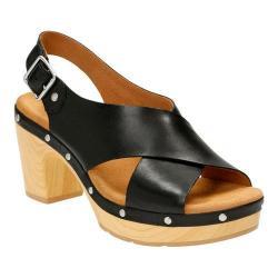Women's Clarks Ledella Club Slingback Black Full Grain Leather