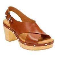 Women's Clarks Ledella Club Slingback Nutmeg Full Grain Leather