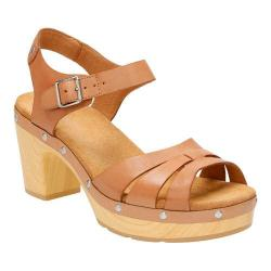 Women's Clarks Ledella Trail Strappy Sandal Beige Full Grain Leather