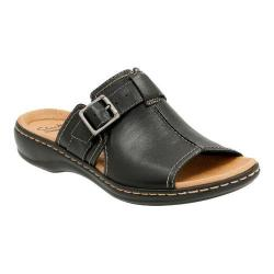 Women's Clarks Leisa Gianna Slide Black Leather