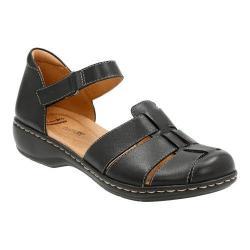 Women's Clarks Leisa Wave Closed Toe Sandal Black Leather