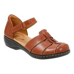 Women's Clarks Leisa Wave Closed Toe Sandal Tan Leather