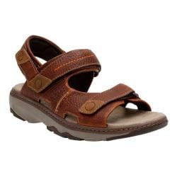 Men's Clarks Raffe Coast Active Sandal Brown Leather