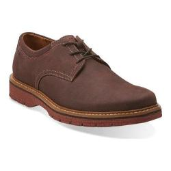 Men's Clarks Newkirk Plain Dark Brown Nubuck