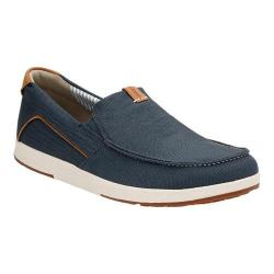 Men's Clarks Norwin Stride Slip On Navy Synthetic
