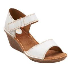 Women's Clarks Orient Sea Wedge Sandal White Leather